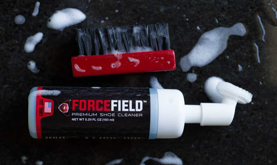 The ForceField Premium Sneaker Cleaner scrubs away dirt and grime, leaving your kicks looking good as new